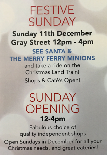 Festive Sunday shopping in Broughty Ferry 11 December /2016