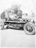 My uncle Joe Amaral on the left, very early picture of a vintage race car owned by Roy Catwright.