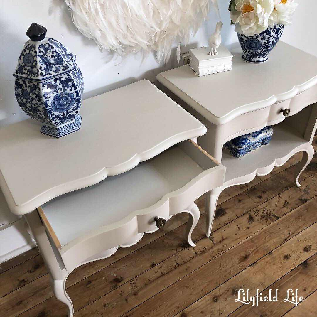 white hand painted vintage bedroom furniture - lilyfield life