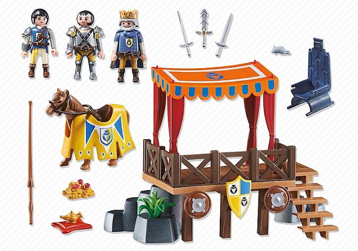 Contenido real de Playmobil® 6695 Tribuna Real con Alex