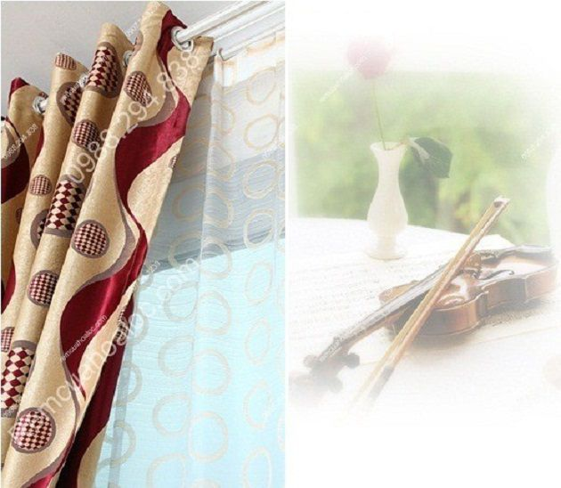 rèm cửa đẹp giá rẻ dây ruy băng soắn tím 12