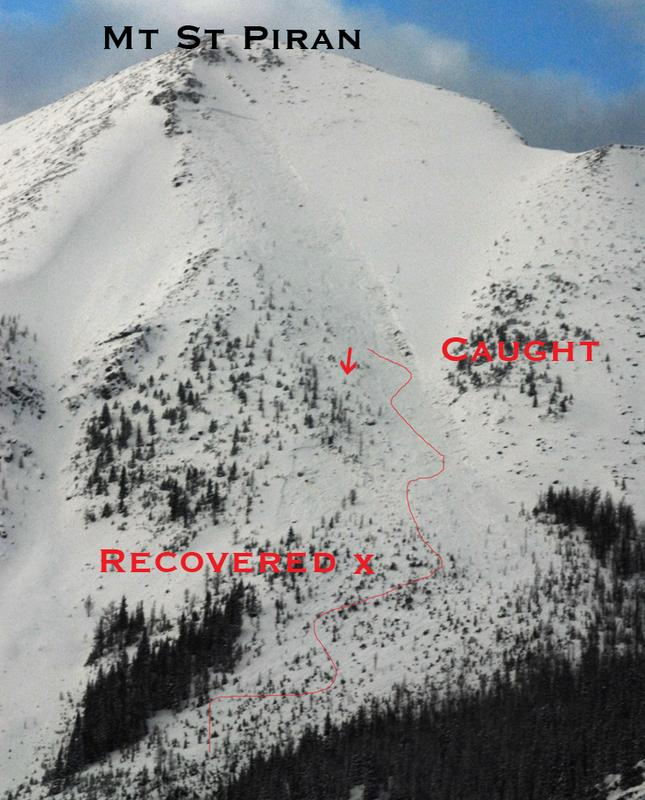 Avalanche Rockies, secteur Mount St Piran - Photo 1