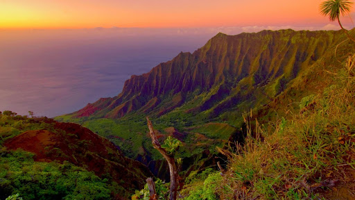 The Kalalau Valley at Sunset, Kauai.jpg