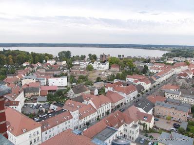 Blick von der Stadtkirche Richtung des Zierker Sees