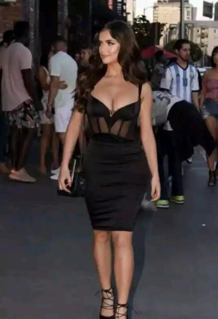 Prominent British supermodel Demi Rose photo