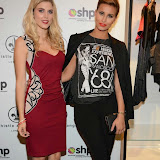 WWW.ENTSIMAGES.COM -   Ashley James and Ferne McCann    at      Whistle and  Bango  launch party at Wolf and Badger, London October 23rd 2014Ashley James, Ania Kubow and Rosie Parkes are showcasing their new brand and bracelets at a celebrity studded press launch                                                 Photo Mobis Photos/OIC 0203 174 1069