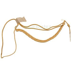 Аксельбант офіцерський з 1 наконечником золотий