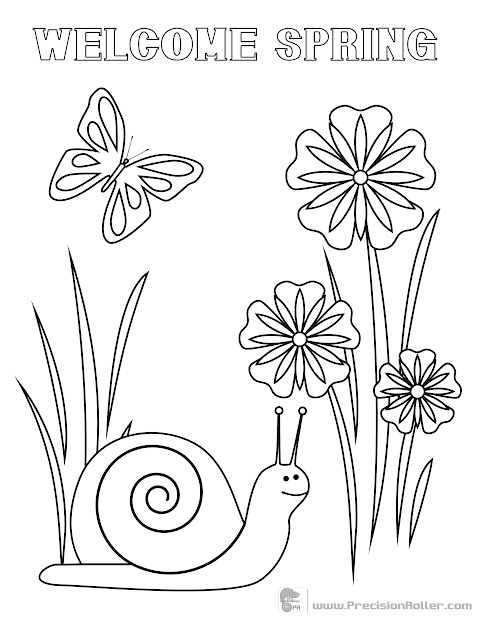 Spring Coloring Sheet  Save And Print