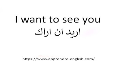 I want to see you اريد ان اراك