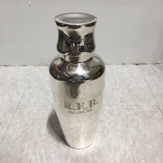 Tiffany & Co. 15.21 oz Sterling Silver Engraved Cocktail Shaker