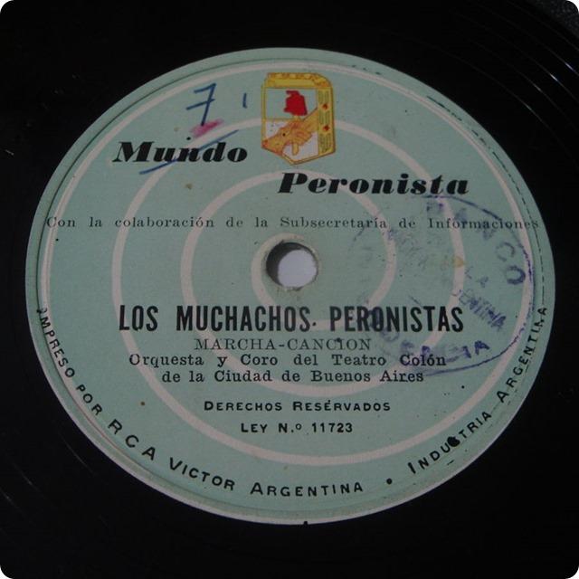 Marcha_peronista_-_Disco_de_pasta