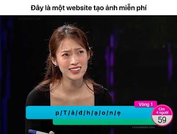 """Chế ảnh """"Ghép từ"""" trong Gameshow Vua Tiếng Việt"""
