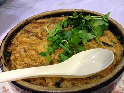 Siu Choi Wong, baked fish intestines in egg