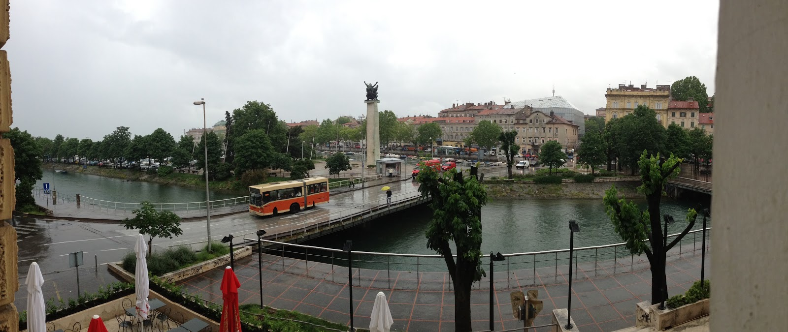 View from our room at Hotel Continental, Rijeka