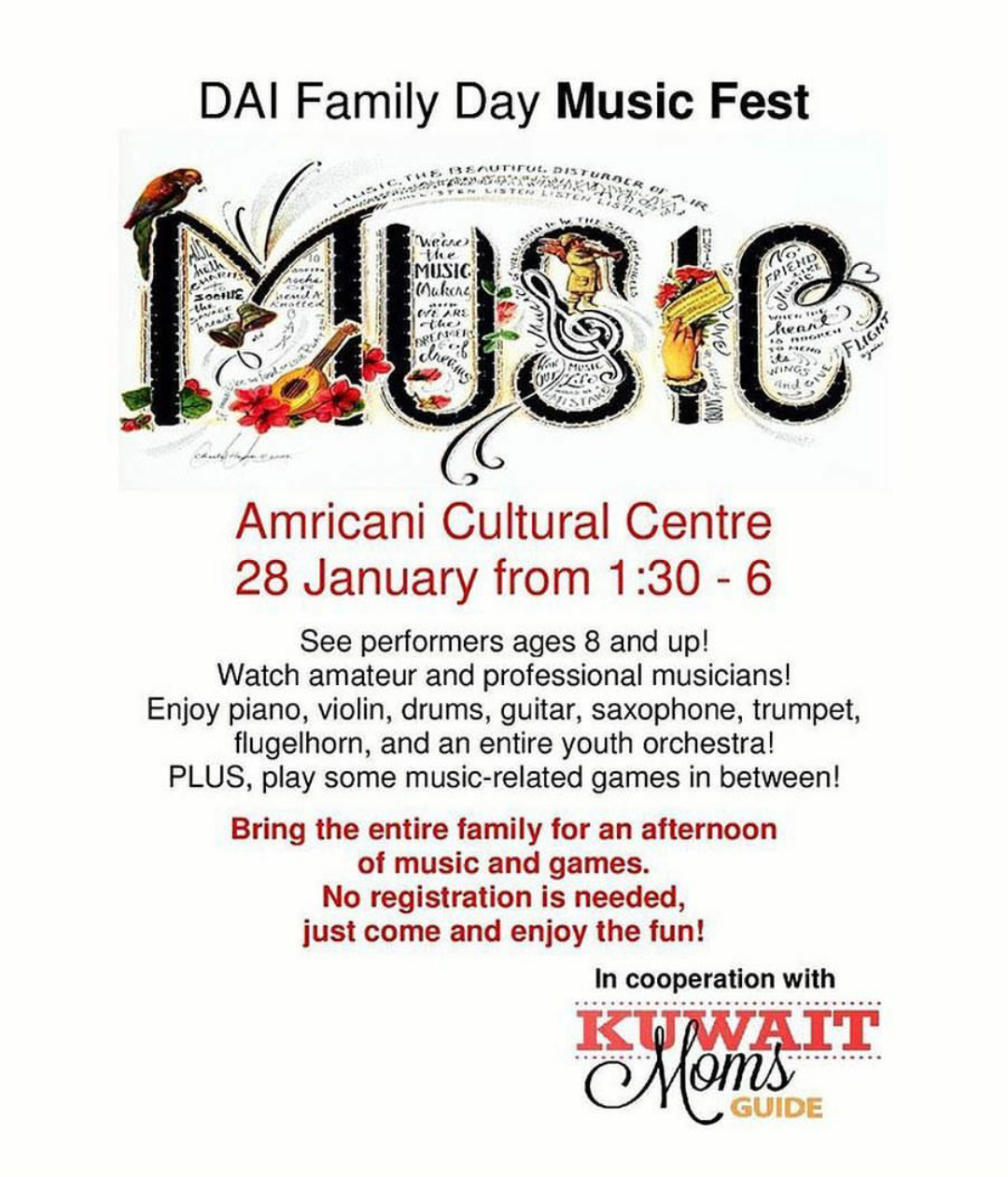 Ladies who do lunch in kuwait dai family day music fest - Family days enero 2017 ...