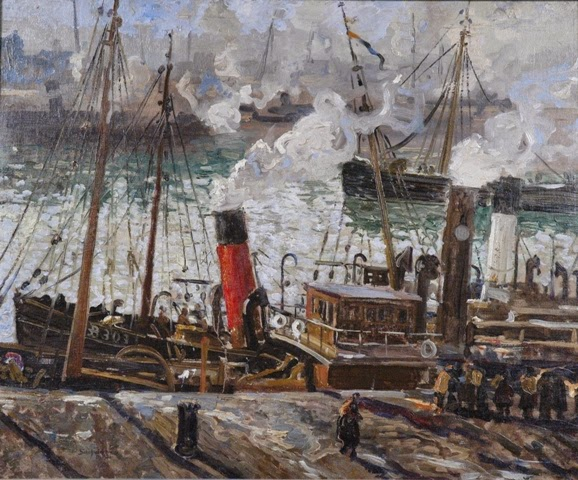 Walter Elmer Schofield - Trawlers Coaling, Boulogne