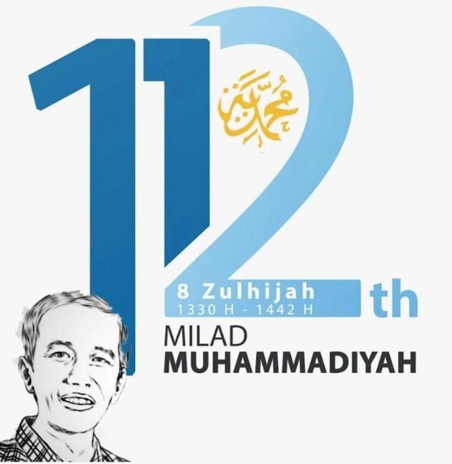 Presiden Jokowi Ucapkan Selamat Harjad Muhammadiyah ke 112