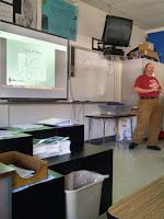 Mark Dibelka, AB6LI, teaching 7th grade