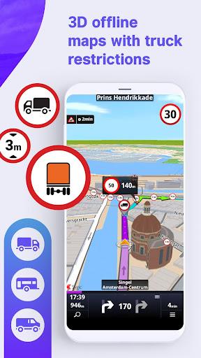 Sygic Truck GPS Navigation & Maps screenshot 1