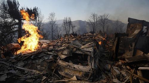 skirball fire homeless