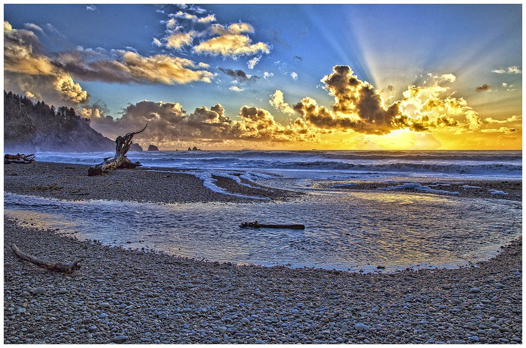 """First Beach Sunset"" by Tim O'Neill - First Place A General"