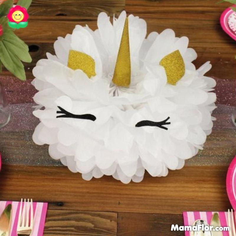 centros de mesa unicornios fiesta 10