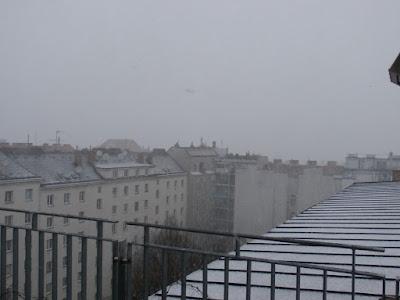 Der Graupel ging dann in starken Schneefall über