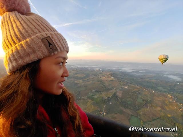 Hot air balloon in Italy