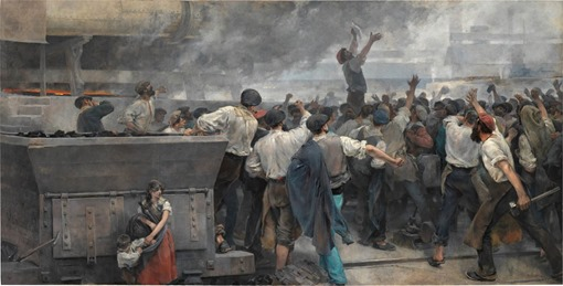 Huelga de obreros de Vizcaya de Vicente Cutanda. 1892