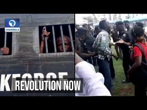 VIDEO: Police Disperse 'RevolutionNow' Protesters, Arrest Journalist, Others In Lagos