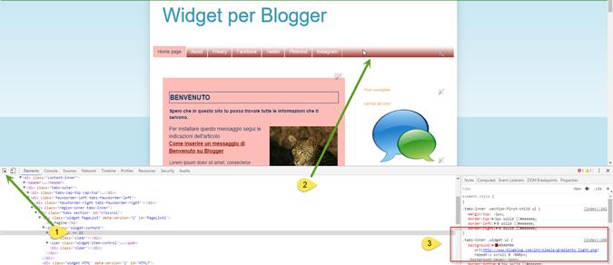 blogger-menù-ispeziona-elemento