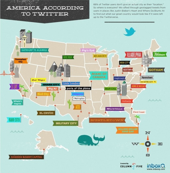 Infographic : America According To Twitter