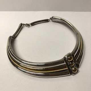 Ilan Hubara Signed Sterling Silver and Vermeil Choker