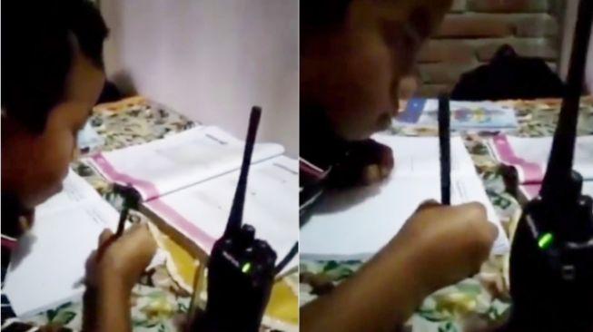 Bikin Ngakak! Emak-emak Belajar Kelompok Efek Sekolah Daring, Warganet: Anaknya Malah Main