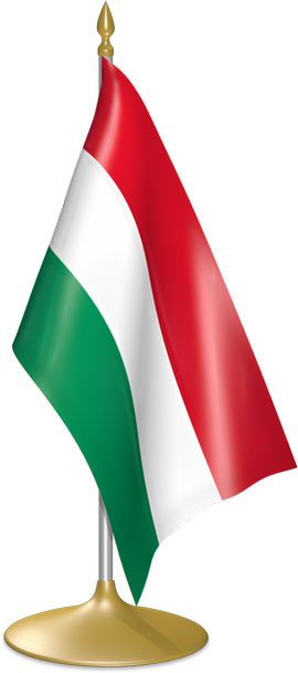 Hungarian table flags - desk flags