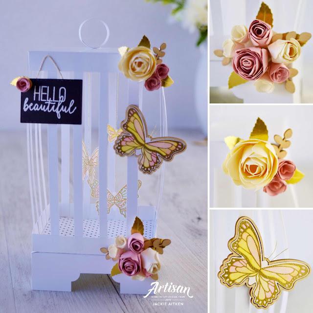 jaxxcraftycreations, Stampin' Up!, Artisan Design Team 2019, Gingham Gala Suite, Botanical Butterfly DSP, Butterfly Gala, Birdcage, Butterfly Card,