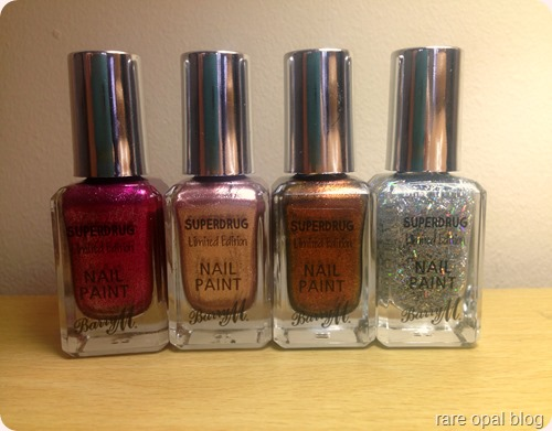 Barry M Autumn/Winter 2016 Superdrug Exclusive Nail Polish Nutcracker, Twinkle Twinkle, Gingerbread and Icicle
