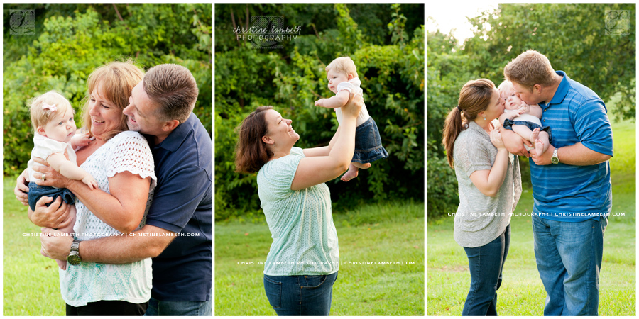Everyone loves the baby! Extended family photo session