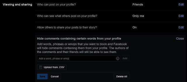 Select the option Profile and tagging.