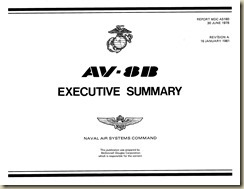 AV-8B Executive Summary Report MDC A5180 Jan-16-81_01