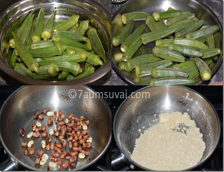 Stuffed okra fry / stuffed bhindi fry
