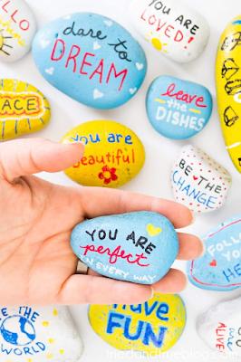 painted kindness rocks idea