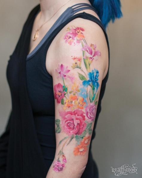 este_floral_colagem