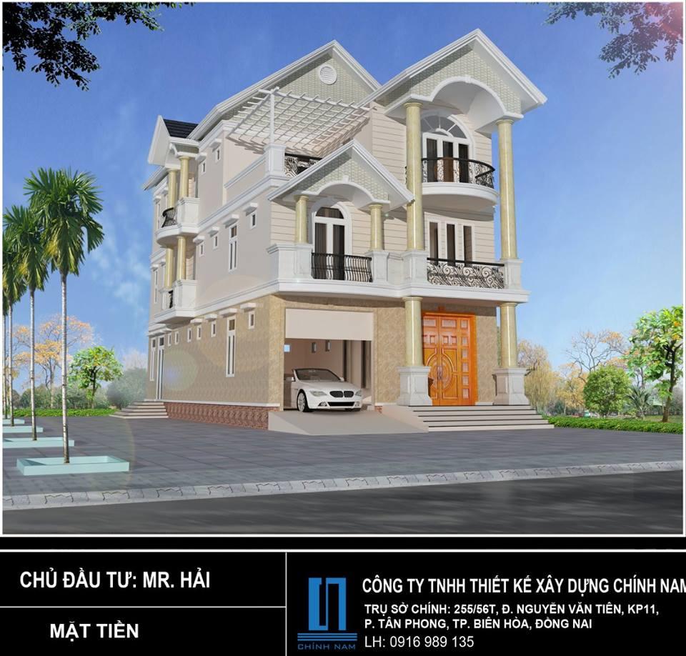 Thiết kế Biệt thự Hoàng Thanh Hải - Tân Mai - Biên Hòa - Đồng Nai