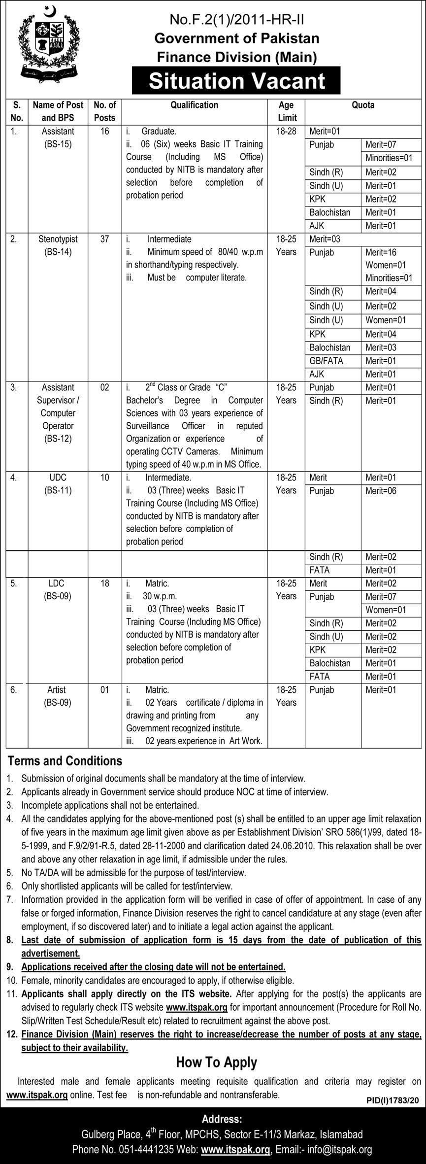 284+Vacancy Finance Division Jobs October 2020