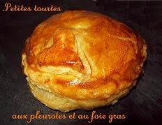 recette de la Tourte aux pleurotes et au foie gras