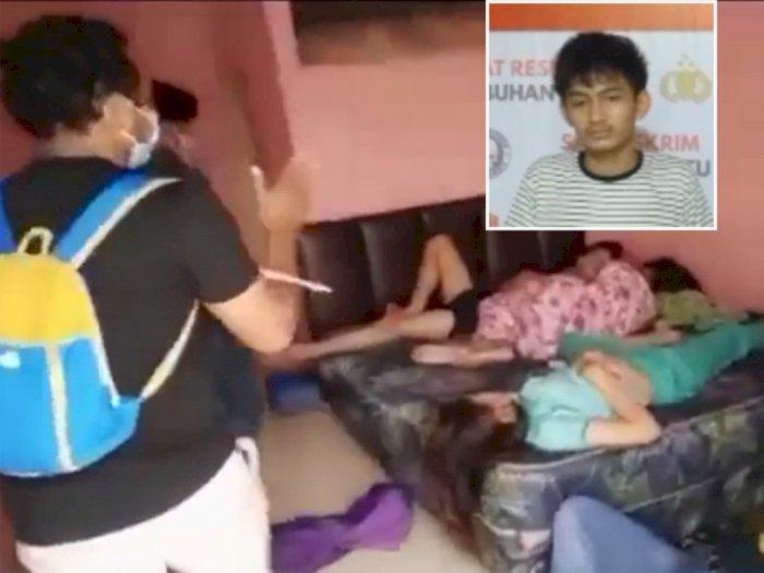 Lagi Asik Tidur dengan 2 Wanita di Ranjang, Pencuri Diciduk Polisi Lagi Ngamar di Kosan