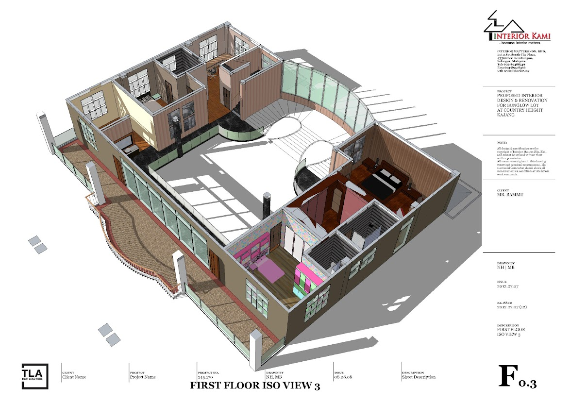 1st floor 3d layout plan