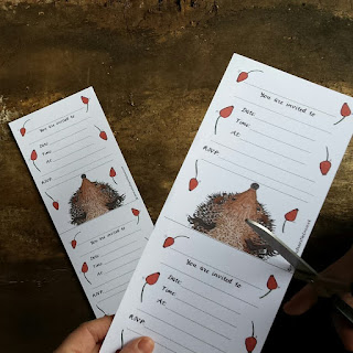 Printable hedgehog party invitations by Alice Draws The Line