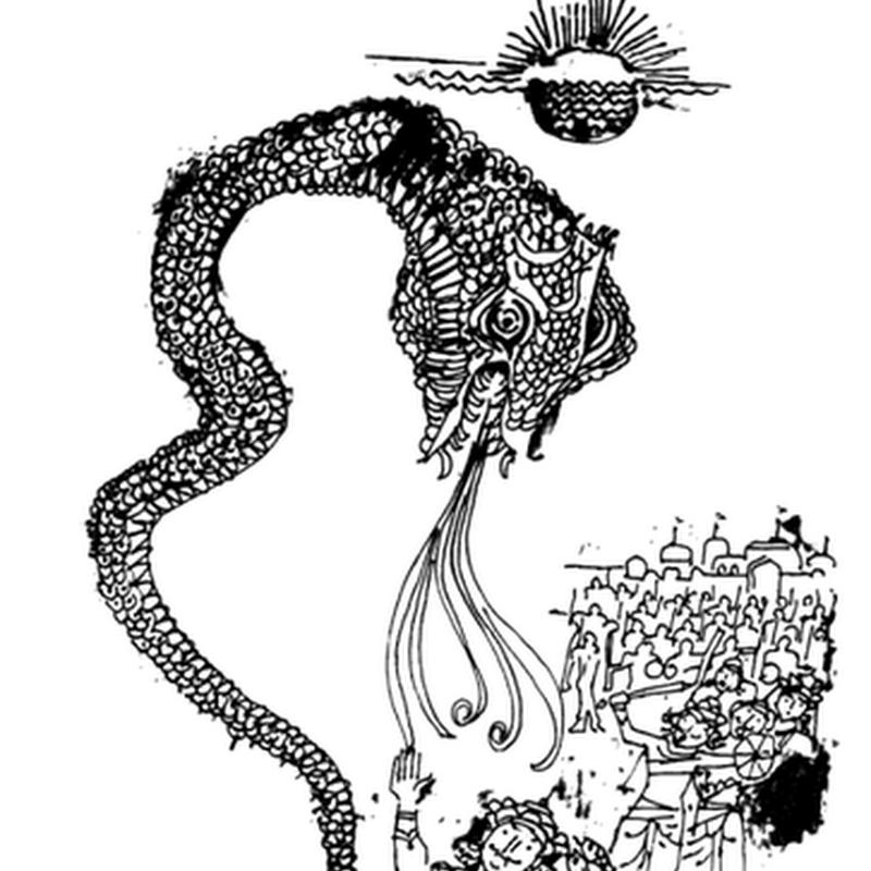 पौराणिक बाल कहानी  - सात दिनों का पहरा